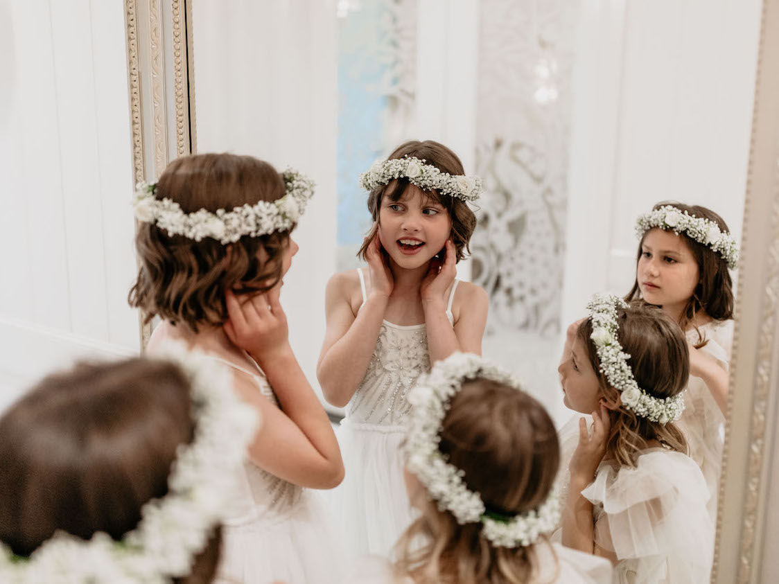 love, hope, flowers, lhflowers, wedding flowers, flowers, Sydney, Sydney florist, jaspers, southern highlands, flower crowns, flower girl, babies breath, white dress, wedding idea,