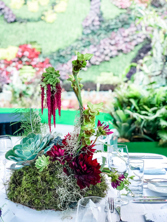 love, hope, flowers, lhflowers, wedding flowers, flowers, Sydney, Sydney florist, corporate function, table centrepieces, long lasting flowers, calyx building, succulents, succulent gardens, moss garden