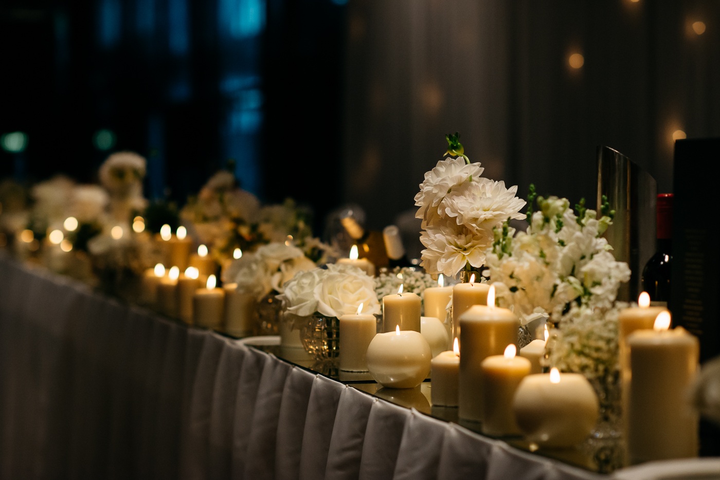 love, hope, flowers, lhflowers, wedding flowers, flowers, Sydney, Sydney florist, candles, bridal, table, jar, arrangements, white, wedding, flowers, doltone, house, pyrmont