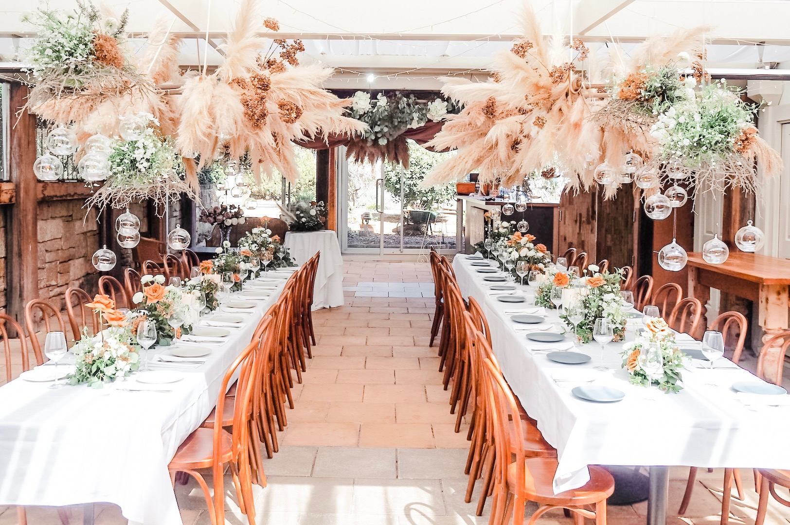 love, hope, flowers, lhflowers, wedding flowers, flowers, destination wedding, southern highlands, wedding, farm wedding, wedding, venue, south, coast, rustic wedding, barn, farm kangaroo, guest table flowers, pampas, grass