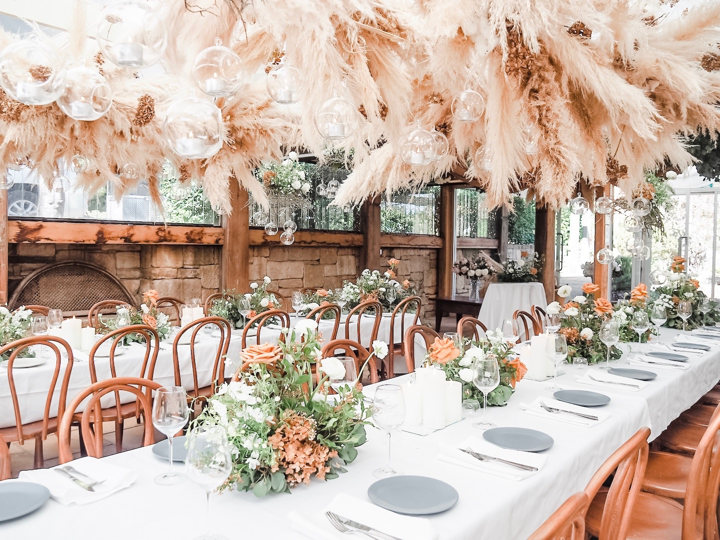 love, hope, flowers, lhflowers, wedding flowers, flowers, destination wedding, southern, Highlands, wedding, farm wedding, wedding venue, toffee, roses, rustic wedding, barn, farm kangaroo, guest table flowers, pampas grass