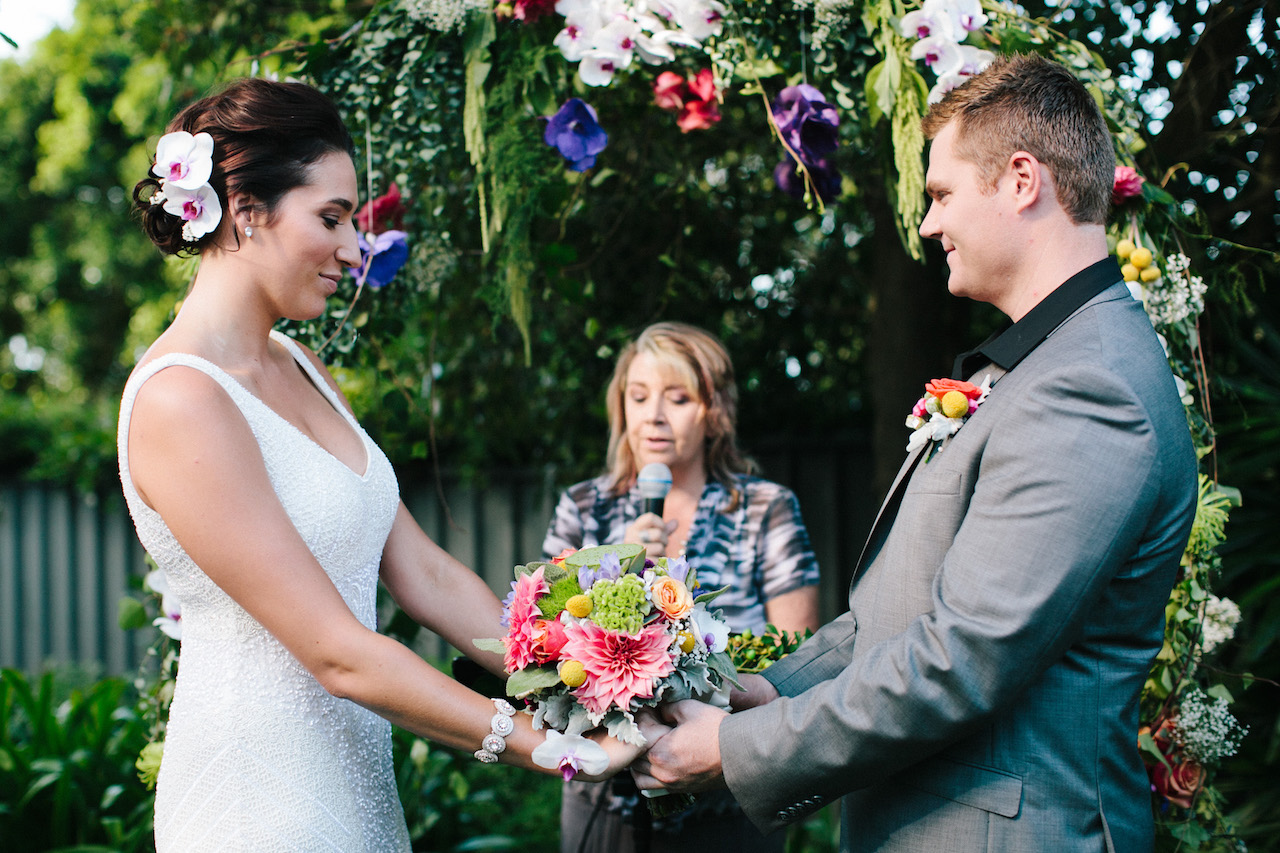 love, hope, flowers, lhflowers, wedding flowers, flowers, Sydney, Sydney florist, dahlias, billy buttons, summer, wedding ceremony, flower arch, outdoor wedding, simple, wedding idea