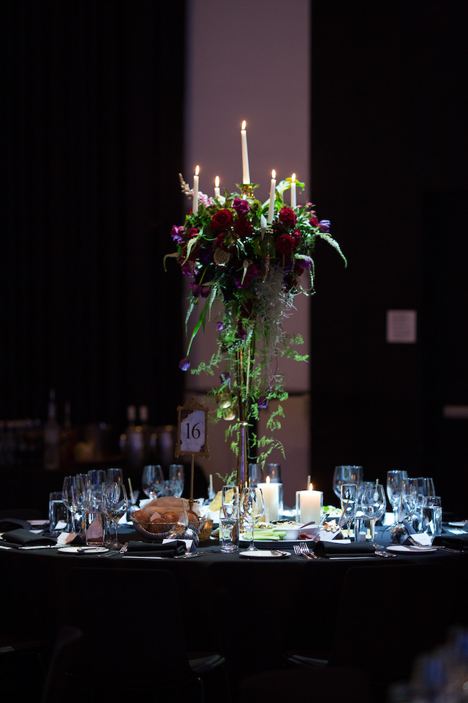 love, hope, flowers, lhflowers, wedding flowers, flowers, Sydney, Sydney florist, merivale hotel, elegant, classic, ballroom, winter wedding, guest table flowers, dark flowers, plum coloured flowers